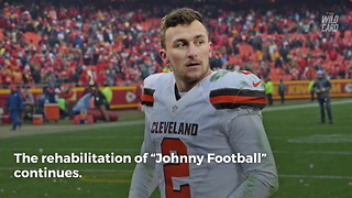 Johnny Manziel Has Returned To The Football Field - Video