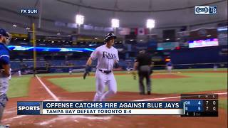 Jake Bauers hits first career home run in Tampa Bay Rays' 8-4 win over Toronto Blue Jays