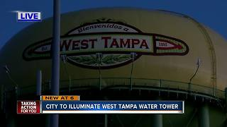 City of Tampa spends more than $60K to illuminate water tower - Video