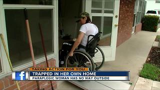 Woman bound to a wheelchair says her home has turned into a prison - Video