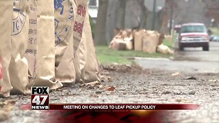 Meeting on changes to leaf pickup policy