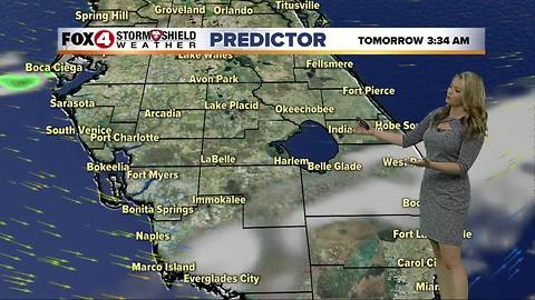 Showers and Storms Tuesday Evening
