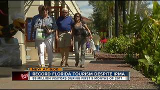 Tourist officials: business boomed in Florida for 2017, despite Hurricane Irma - Video