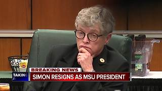 Michigan State University President Lou Anna Simon to step down Thursday - Video