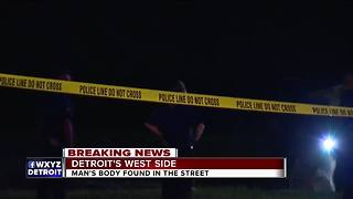 Man's body found in street on Detroit's west side - Video