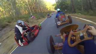Man Films Traditional Wooden Car Race in Spain - Video