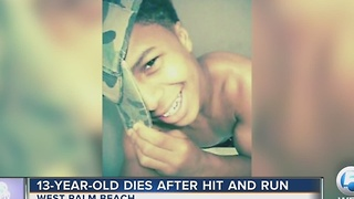 13-year-old dies after hit and run - Video