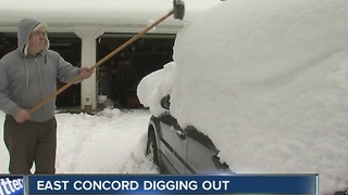 East Concord digs out from over three feet of snow - Video