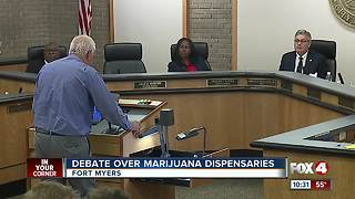 Debate over marijuana dispensaries - Video