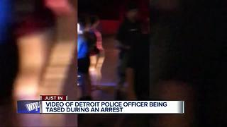 Video of Detroit police officer being tased during arrest - Video