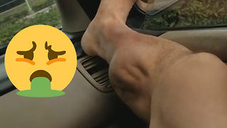 This is the Grossest and Most Painful Leg Cramp in History...IT'S MOVING!!! - Video