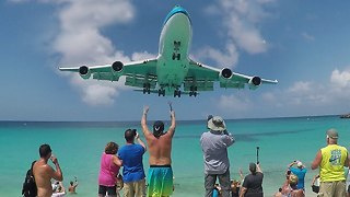 St.Martin maho beach Beside The most dangerous airport in the world