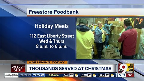 Freestore Foodbank distributes holiday meals