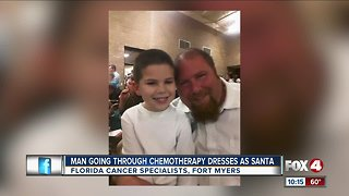 Cancer patient dresses as Santa