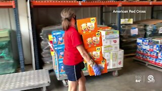 Volunteers from South Florida helping those affected by Hurricane Laura