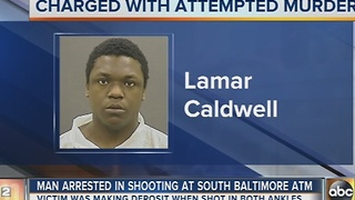 Man charged with attempted murder in shooting at Baltimore ATM - Video