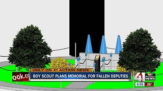 Teen plans memorial to fallen Johnson County deputies as Eagle Scout project - Video