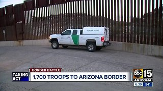 1,700 additional troops headed to Arizona, Mexico border - Video