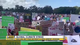 Global climate strike rallies set for Detroit, Ann Arbor