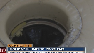 Don't overload garbage disposal during holidays - Video
