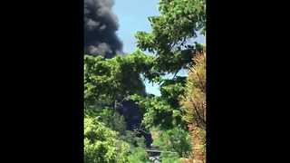 Smoke Rises From Burning Oil Train in Mosier, Oregon - Video