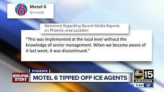 Motel 6 employees tips off ICE agents - Video