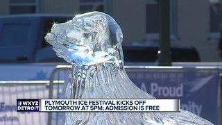 Plymouth Ice Festival kicks off Friday at 5 pm - Video