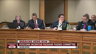 Wisconsin Assembly committee approves Foxconn incentives - Video