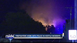 Fire response limited in hostile events - Video