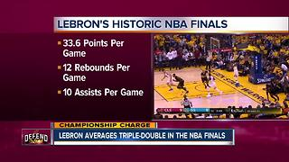 LeBron averages triple-double in the NBA Finals - Video