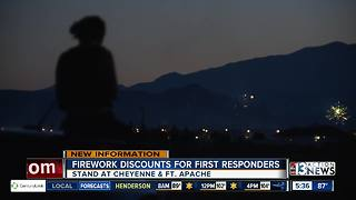 Firework discounts for first responders - Video