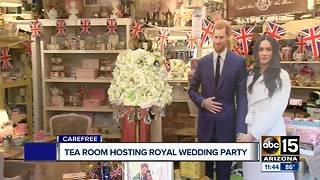 Valley tea room hosting special Royal Wedding party - Video