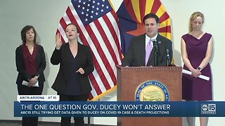The one question Gov. Ducey won't answer