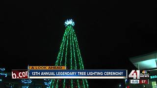 13th annual Legends Tree Lighting Ceremony - Video