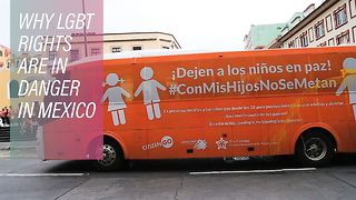 A lobby on wheels spreading hate across Mexico - Video