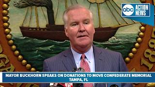 Mayor Bob Buckhorn donates money to remove confederate memorial - Video