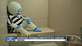 Abominable snowman arrested in DUI campaign - Video