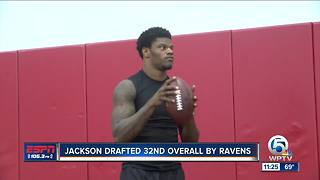 Lamar Jackson drafted by Baltimore Ravens