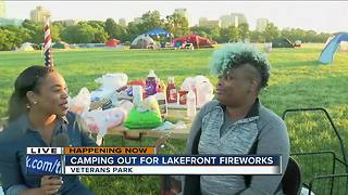 Camping out for the fireworks on Milwaukee's lakefront - Video