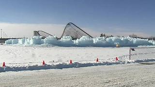 Stunning 'ice castle' opens January in Wisconsin Dells - Video