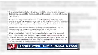 Weed killer found in many common foods