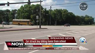 Port St. Lucie teen critical after being hit by vehicle while biking home from school - Video