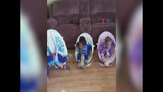 Triplets can't Stop Moving