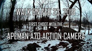 Walk with the Apeman A70 Action Camera - First Shoot
