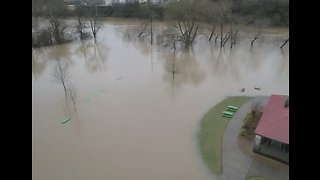 Heavy Rain Causes Flooding in Columbia, Tennessee