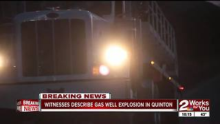 Quinton neighbors witness rig explosion (pt2) - Video