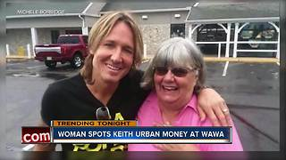 Woman helps man short on cash at Wawa, finds out he's Keith Urban