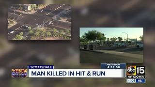 Man killed in Scottsdale hit-and-run crash - Video