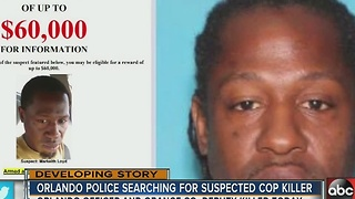 Orlando Police searching for suspected cop killer - Video