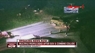 Chopper 4 over scene of deadly Jefferson County crash - Video